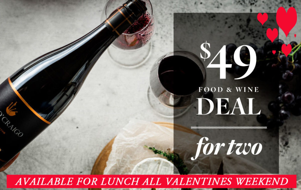 Valentines Day $49 Lunch Deal for two